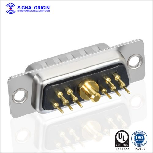 11W1 male mixed contact d type connector