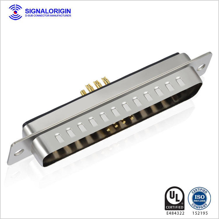13W6 male solder cup d type combo connector