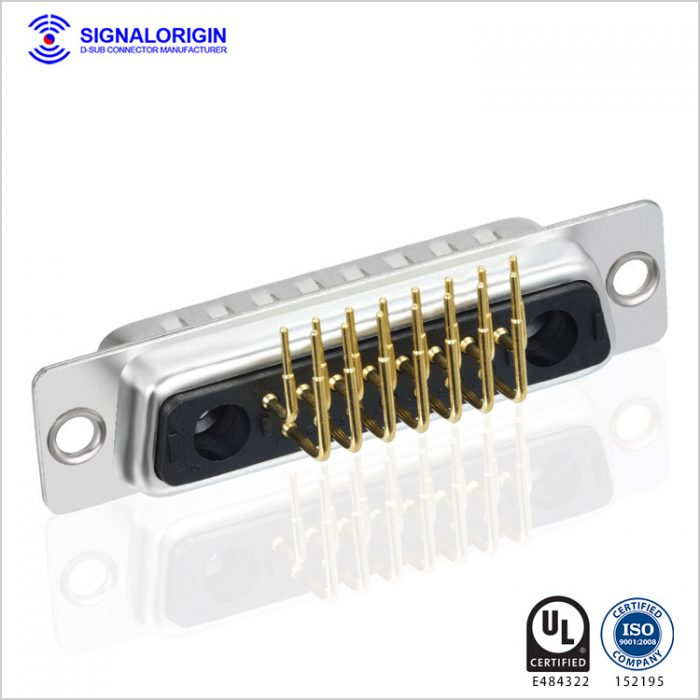 17w2 male combo right angle d-sub pcb connector