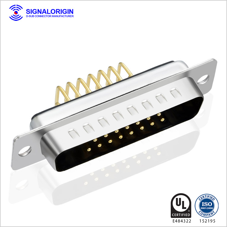 17w2 Male Combo Right Angle D-sub Pcb Connector