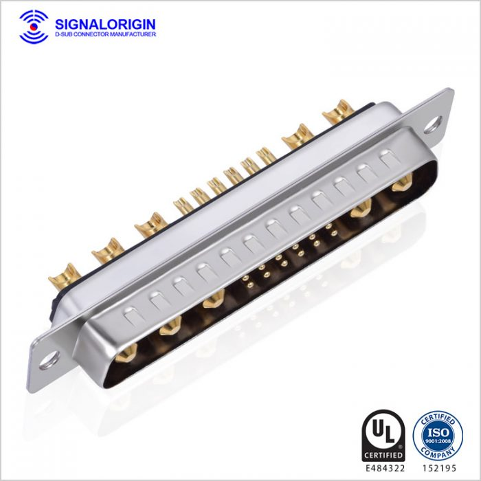 17W5 male solder cup d-sub combo connector