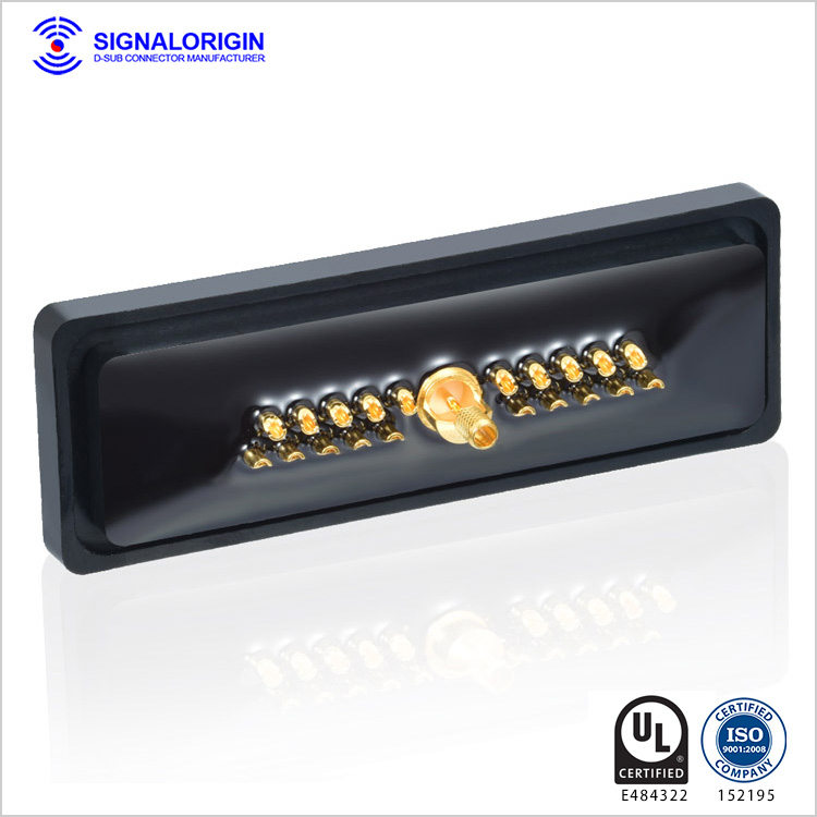 21W1 waterproof female d-sub coaxial rf connector