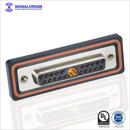 21W1 waterproof female d-sub coaxial rf connector