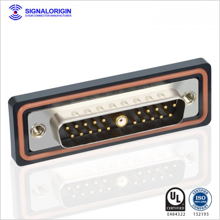 21W1 male d-sub coaxial waterproof connector