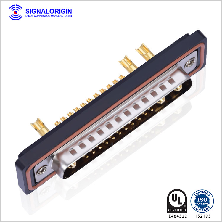 25W3 waterproof High current D-SUB solder cup connector