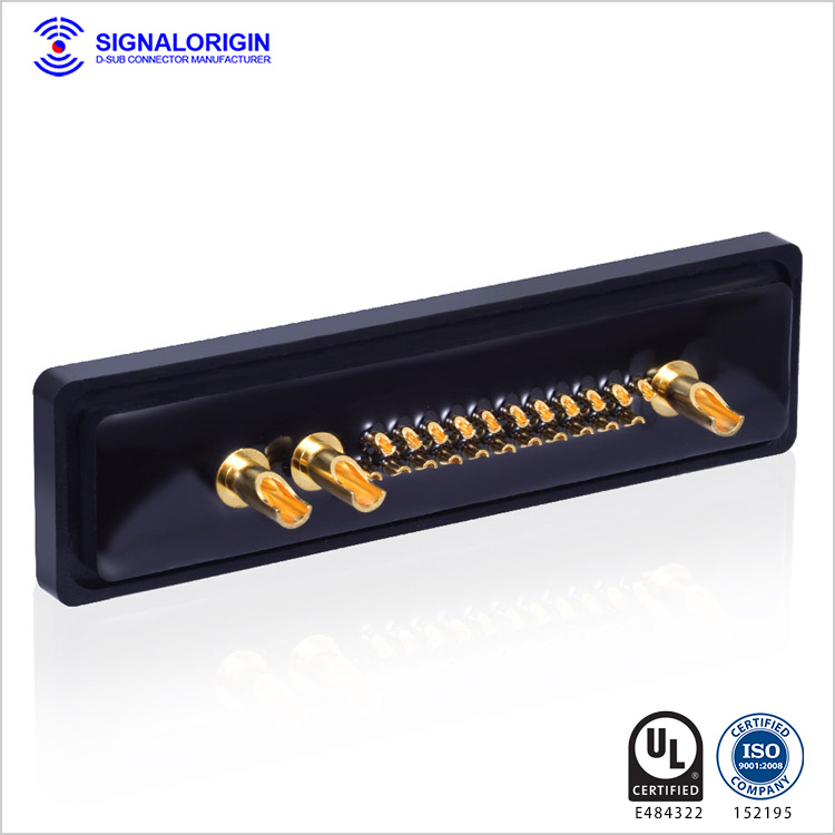25W3 female D-sub mixed contact waterproof connector