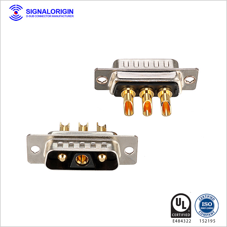 3V3 male combo D-sub high current connectors
