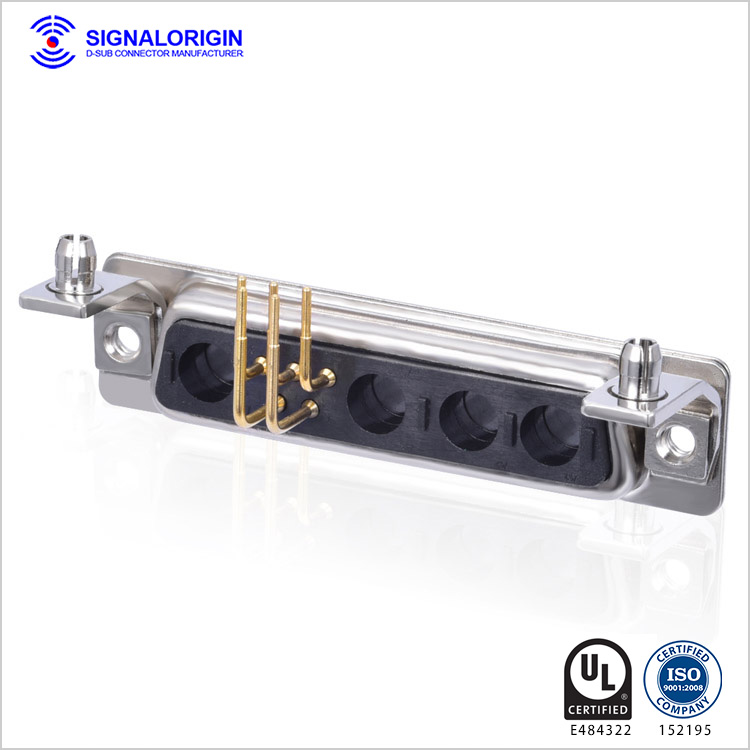 9w4 female right angle combo d connector