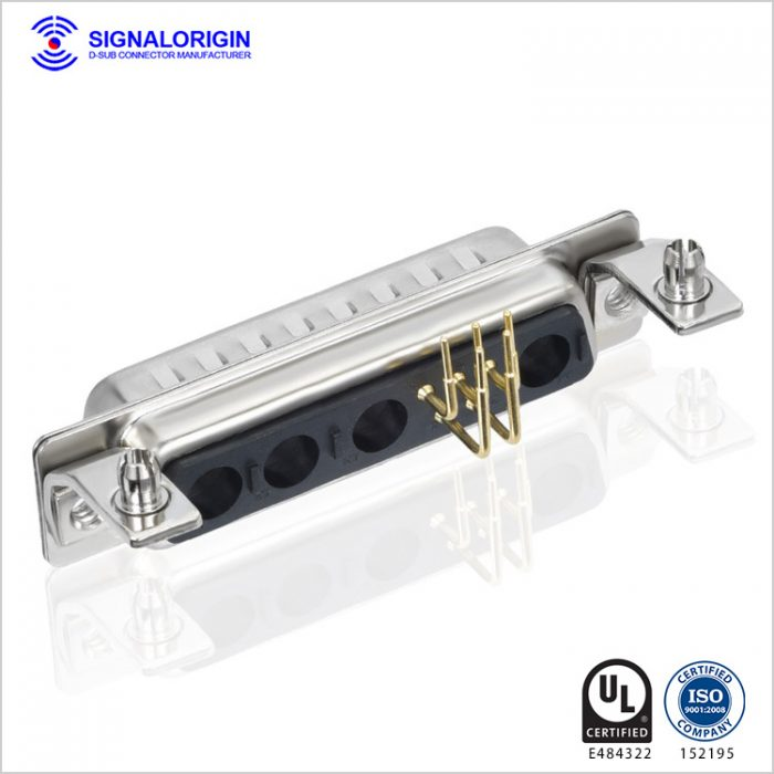 9W4 male combination layout d sub connectors