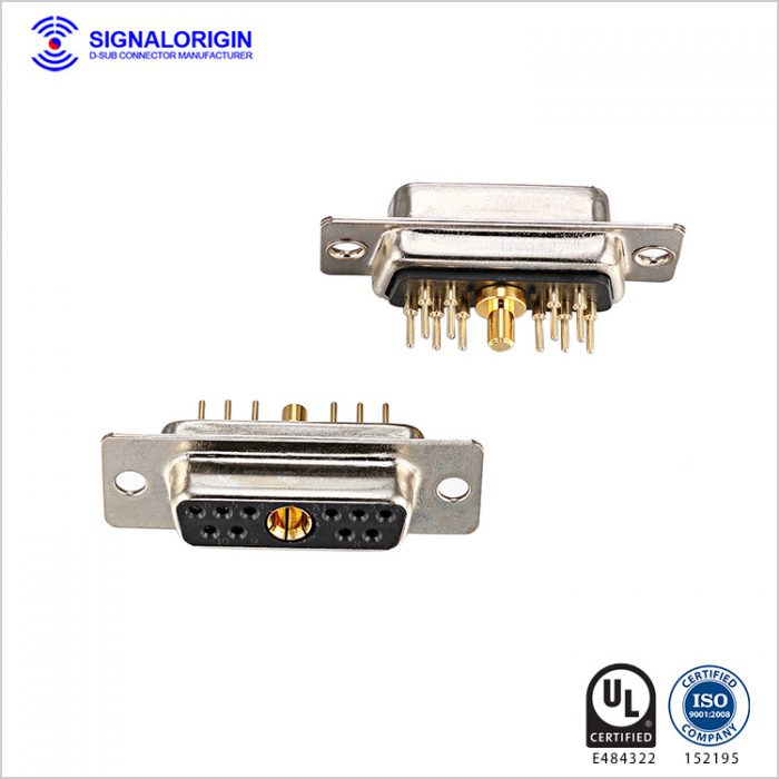 11W1 female d sub mixed terminal connectors supplier