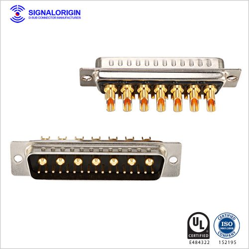 24W7 d sub solder cup power and signal connector