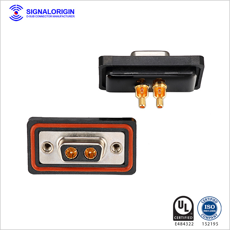 2W2 d sub coaxial cable female connector supplier