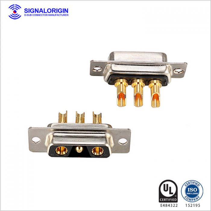 3V3 female d-sub coaxial power connector