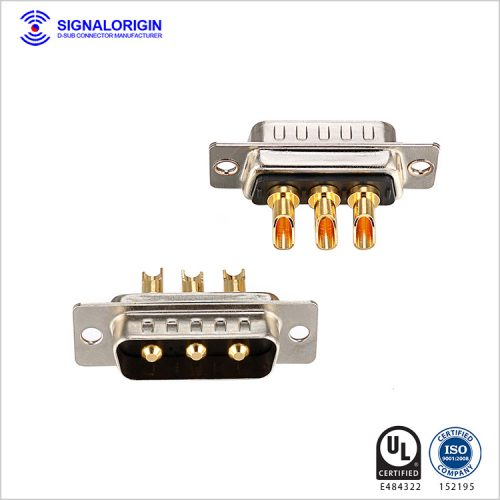 High current male combo D-sub 3w3 Connector