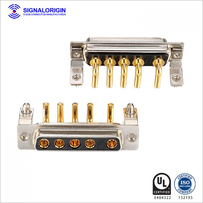 5W5 female high current subminiature d connector