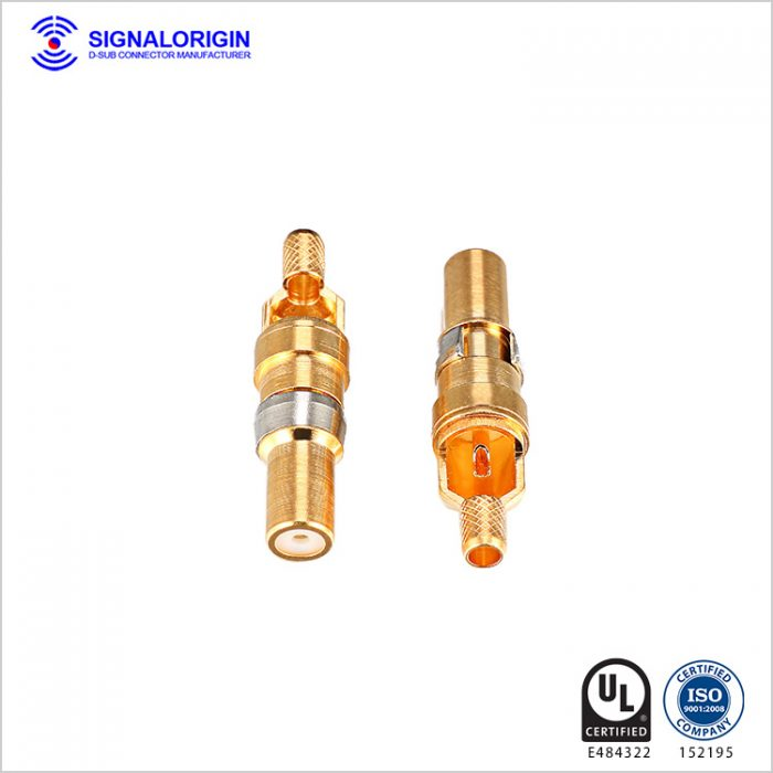D sub female connector solder cup coaxial terminal wholesale