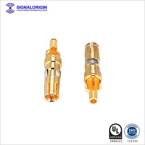 D sub male connector solder cup coaxial contact supplier