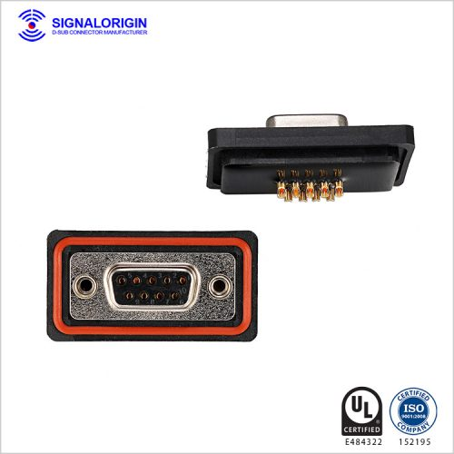Waterproof solder 9 pin d type female connector