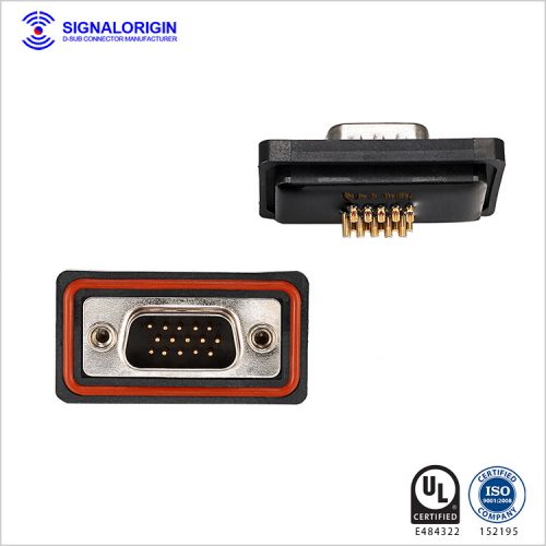 High density d sub 15 pin male connector for sale