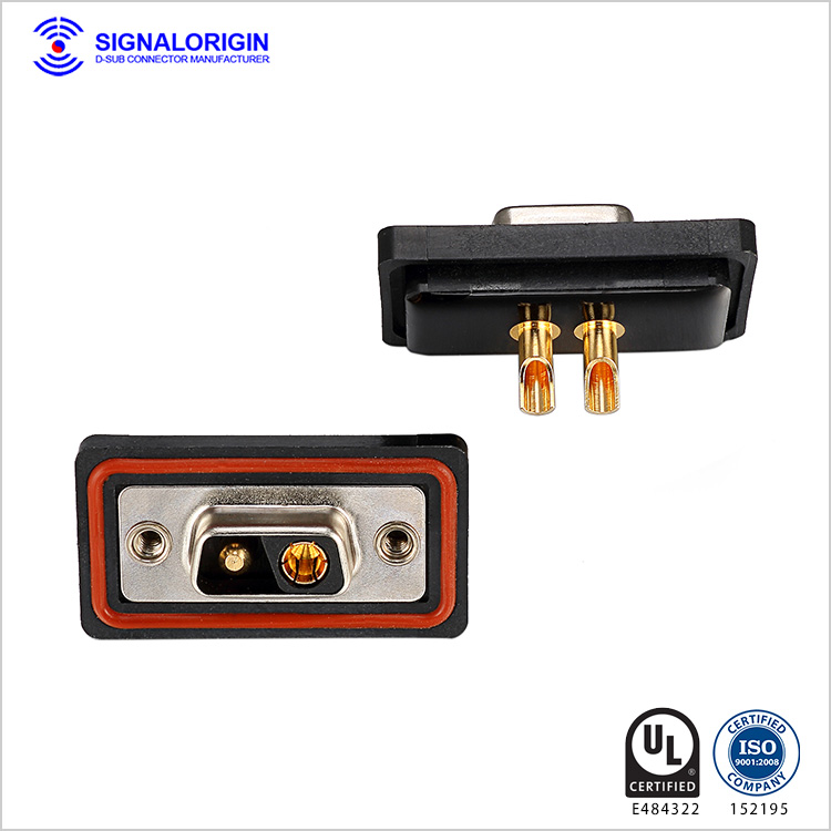 2V2 female waterproof combination d sub connectors
