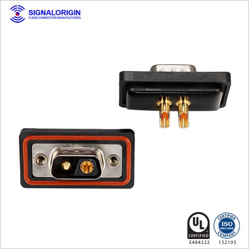 2V2 male mixed d-sub waterproof power connector