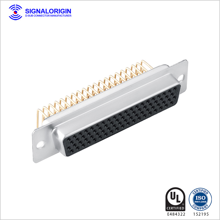 78 pin female right angle high density d-sub connectors supplier