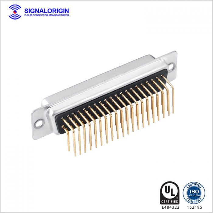 78 pin female righ angle high density d-sub connectors supplier