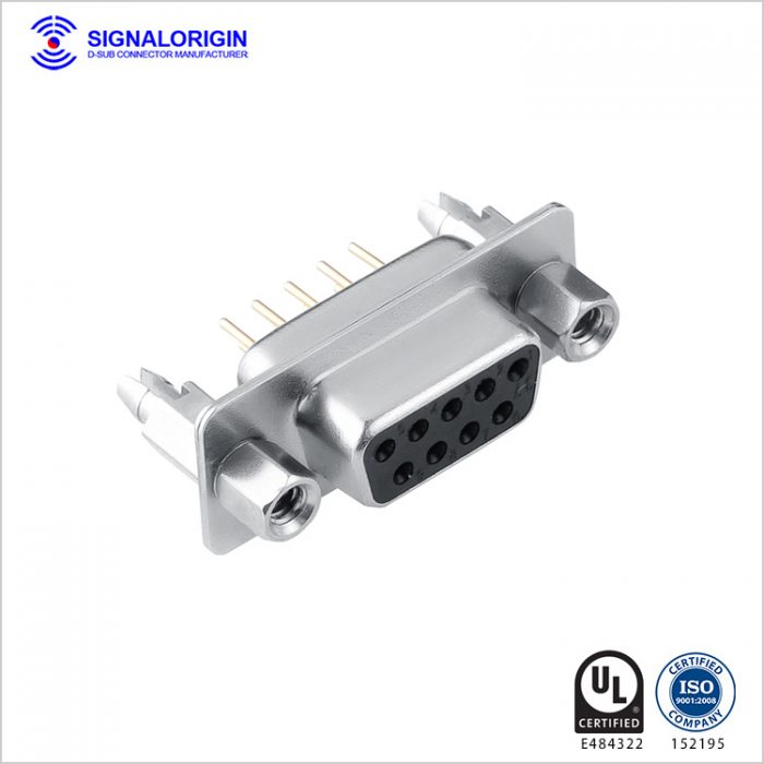 power and signal db9 female connector manufacturer