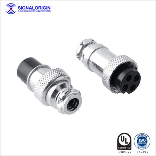 M16 4 PIN male female waterproof circular electrical connectors