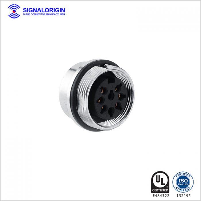 6 pin female waterproof electrical circular connectors