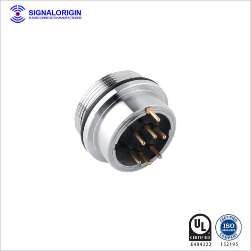 6 pin female waterproof electrical circular connectors