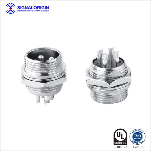 M16 4 pin waterproof circular industrial electrical connectors