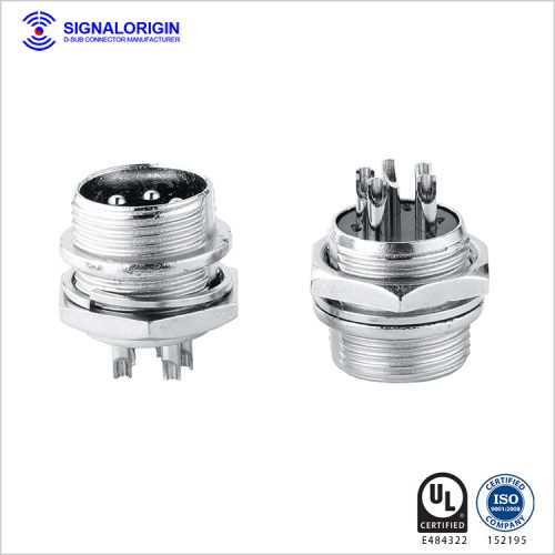 M16 5 PIN waterproof solder cup circular power connector