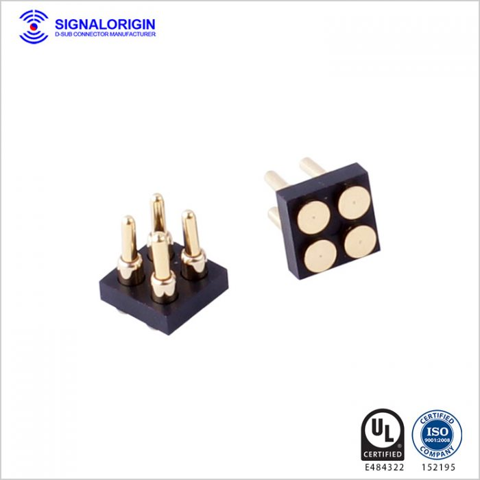 power and signal spring loaded connectors surface mount