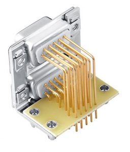 15 pin dual-port right angle d-sub connector supplier