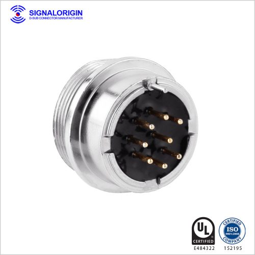 8 pin female waterproof industrial circular connectors