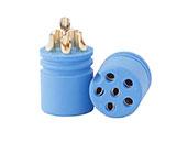 6 pin female circular waterproof electrical connectors wholesale