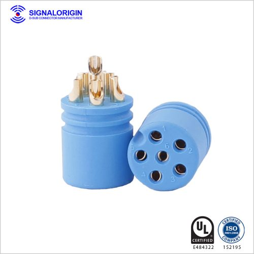 6 pin female circular waterproof electrical connectors wholesale