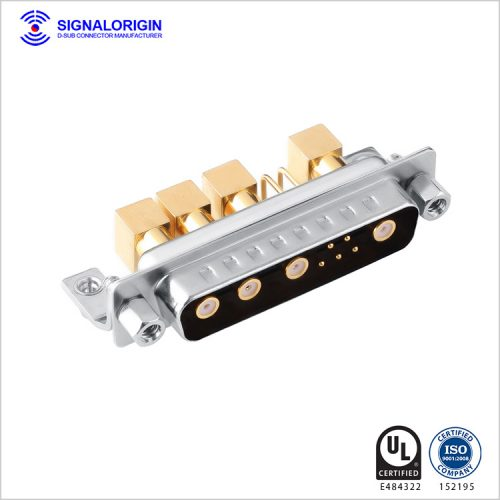 9w4 male righ angle coaxial conec d-sub connectors wholesale