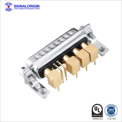 9w4 male righ angle coaxial conec d-sub connectors wholesale