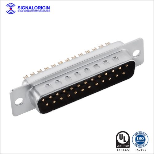 25 pin D-sub male connector solder cup type