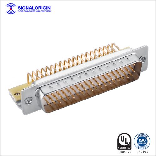 78 pin plug high density D-sub right angle connector