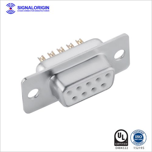 9 pin D-sub female connector solder cup type