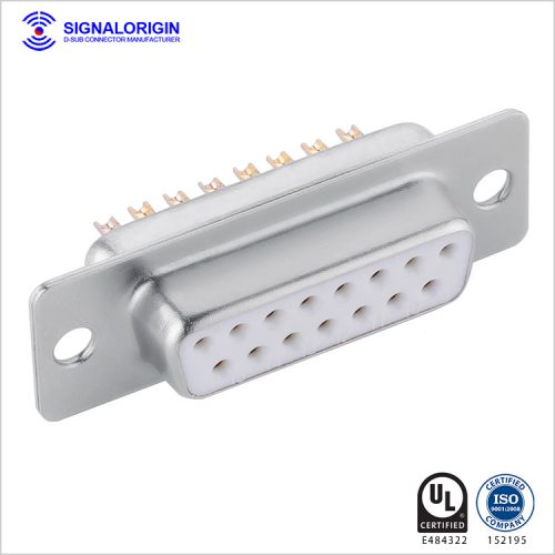D-sub connector 15 pin female solder cup type