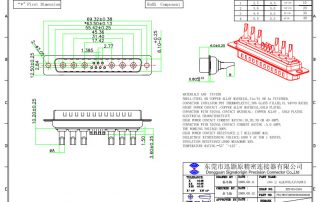 13W6 D-sub connector from SIGNALORIGIN