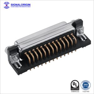 25 pin D-sub female PCB right angle connector