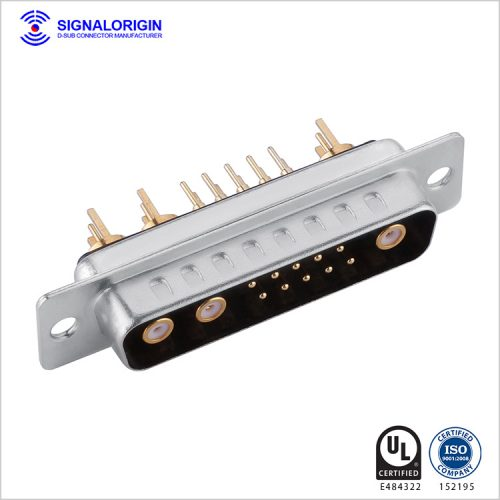 13W3 D-Sub coaxial male connector manufacturer