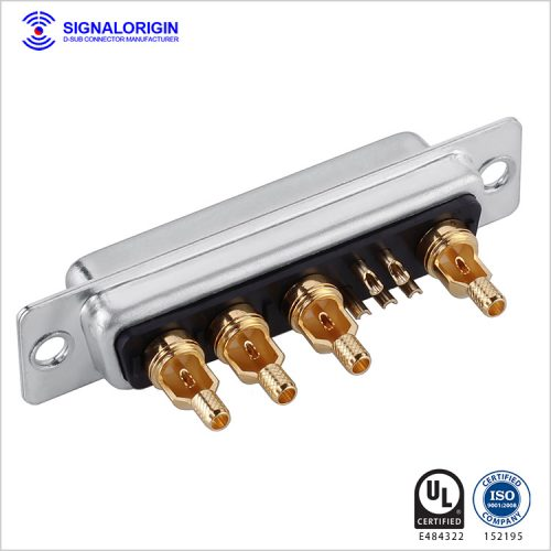 9W4 D-sub coaxial connector female solder cup