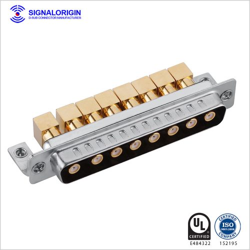 8W8 D-sub coaxial connector male right angle type