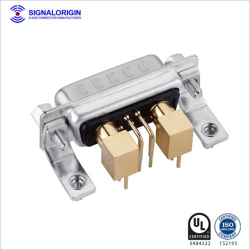 7W2 D-sub coaxial connector male PCB right angle